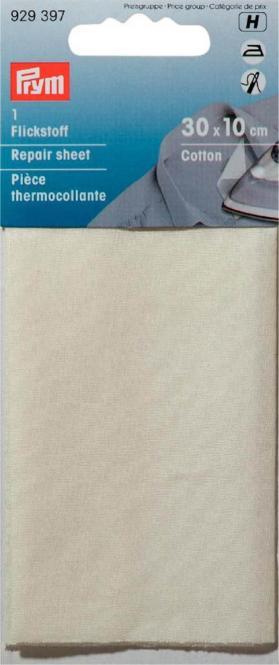 Großhandel Flickstoff CO (zum Aufbügeln) 12 x 45 cm ecru