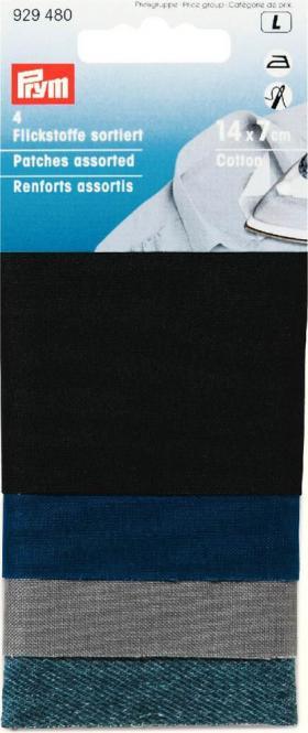 Großhandel Flickstoff CO (zum Aufbügeln) 14 x 7 cm farbig sortiert