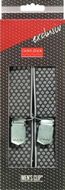 Großhandel Hosenträger Exclusiv 120 cm 35 mm Webpunkte schwarz