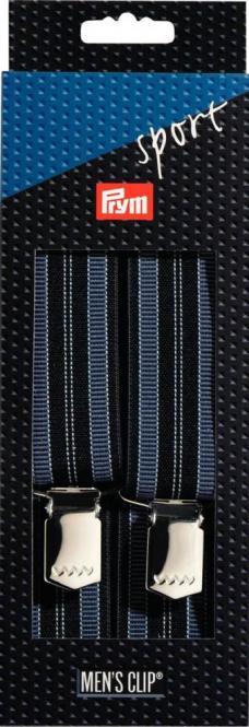 Großhandel Hosenträger Sport 120 cm 35 mm Streifen marine/blau