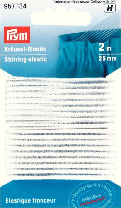 Großhandel Kräusel-Elastic 25 mm weiß