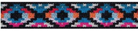Großhandel Color-Elastics 25 mm Ethno blau / pink