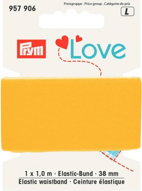 Wholesale Prym Love Elastic waistband 38mm yellow