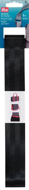 Großhandel Gurtband für Taschen 40 mm schwarz