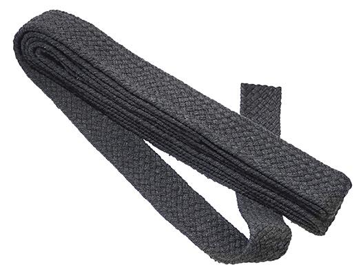 Großhandel Gurtband für Taschen 40 mm grau geflochten