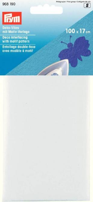 Großhandel Deko-Vlies mit Motiven zum Aufbügeln 100 x 17 cm weiß