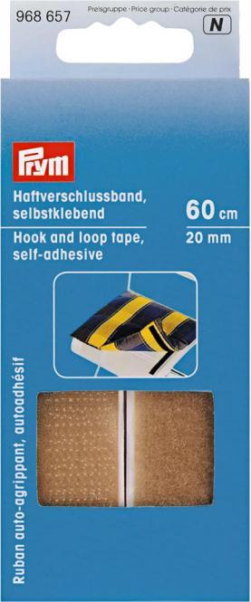 Großhandel Haftverschlussband selbstkl. 20 mm beige