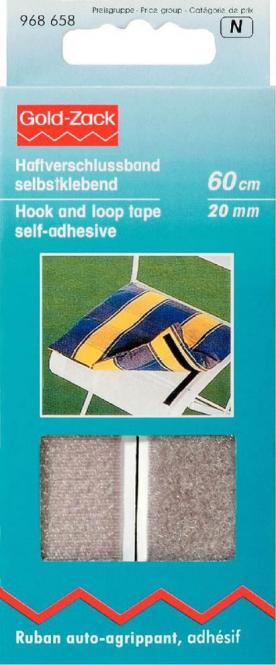 Wholesale Hook and Loop Tape adhes.20mm grey  60cm