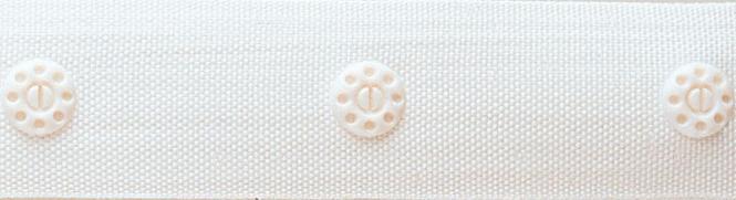 Großhandel Druckknopfband KST 21 mm mit Abst. 35 mm weiß