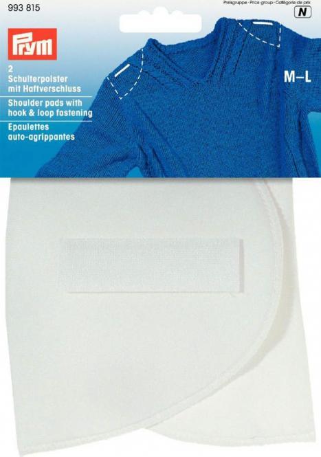 Großhandel Schulterpolster Halbmond Haftverschluß PA M-L