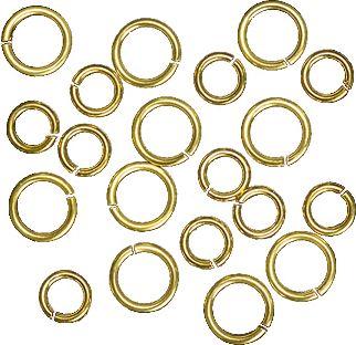 Großhandel Ringe 5 u. 6,5mm gold