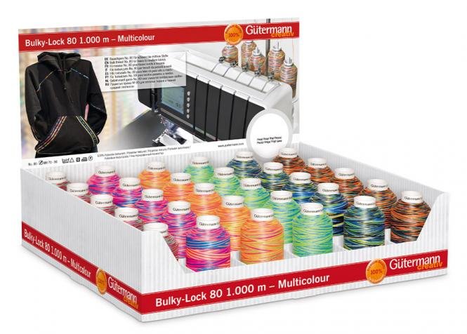 Großhandel Display Bulky-Lock 80 Multicolor 30 Spulen