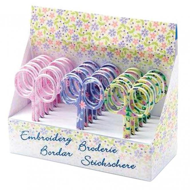 Wholesale Embroidery Scissors Flowers I Display 3X6Pc