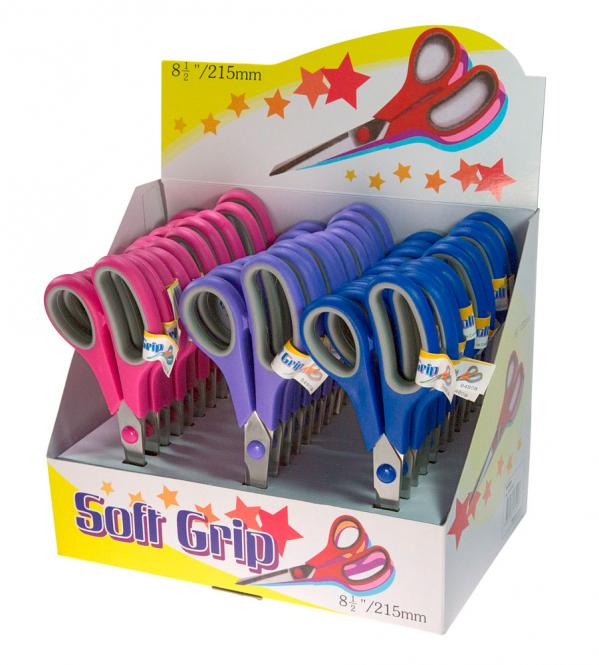 Wholesale Soft-Grip-Scissors Display