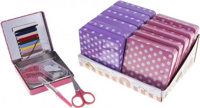 Wholesale Sewing Kit Polka Dot Tin