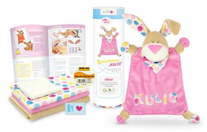 Großhandel Kullaloo Materialset Schnuffeltuch Hase rosa
