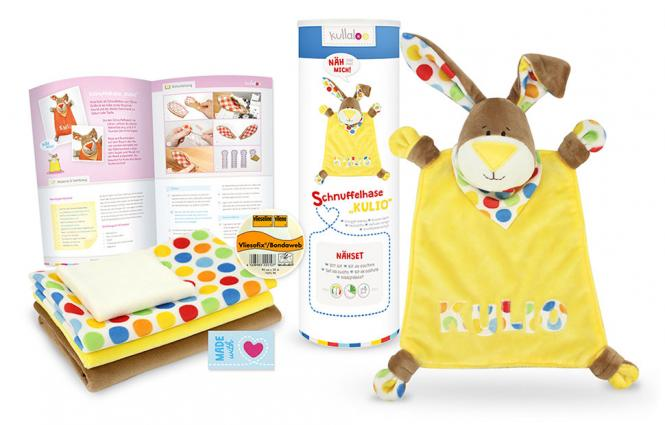 Großhandel Kullaloo Materialset Schnuffeltuch Hase gelb