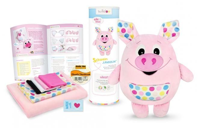 "Wholesale Kullaloo Materialset Schwein ""Landolin"" rosa"