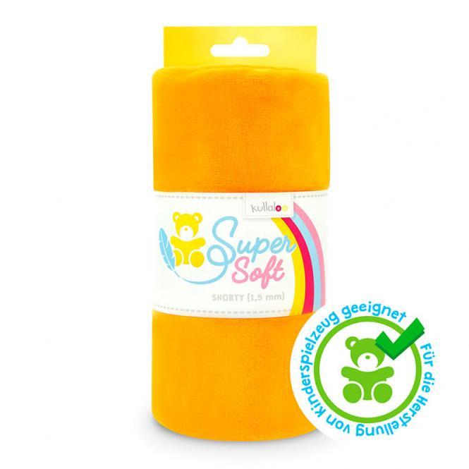 Großhandel Kullaloo Plüschstoff Shorty uni 1,5mm orange