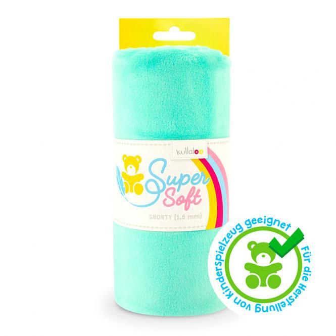Großhandel Kullaloo Plüschstoff Shorty uni 1,5mm mintgrün