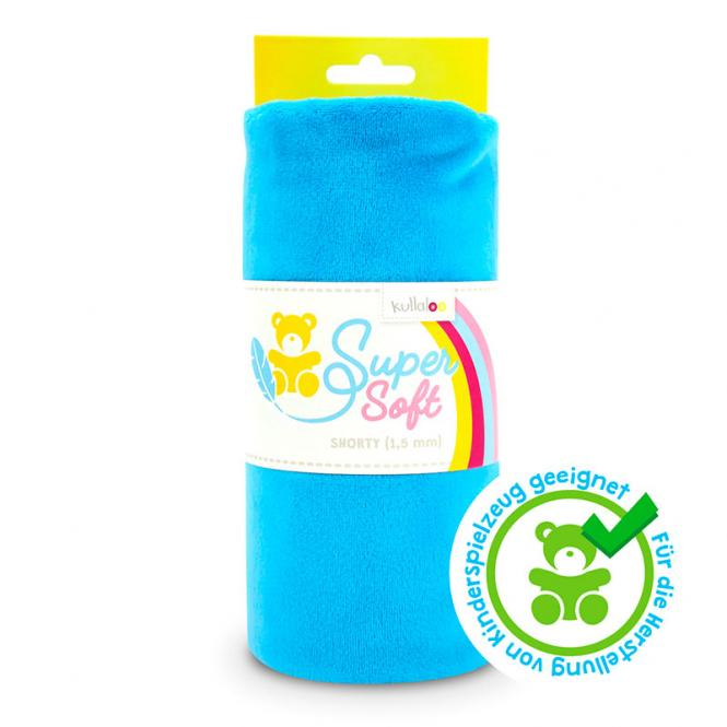 Großhandel Kullaloo Plüschstoff Shorty uni 1,5mm blau
