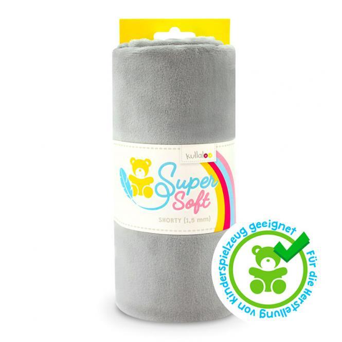 Großhandel Kullaloo Plüschstoff Shorty uni 1,5mm hellgrau