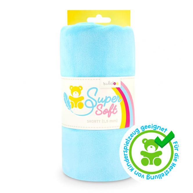 Großhandel Kullaloo Plüschstoff Shorty uni 1,5mm hellblau