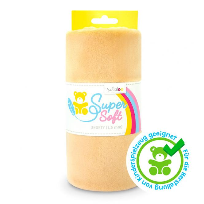 Großhandel Kullaloo Plüschstoff Shorty uni 1,5mm beige