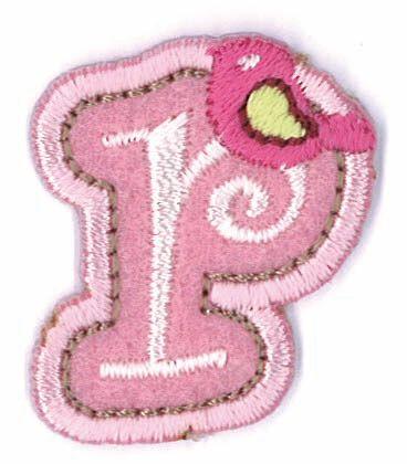 Großhandel Applikation Fun Letter 'Girls just wanna have' R