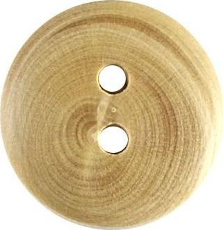 Großhandel Knopf 2-Loch Holz 15mm