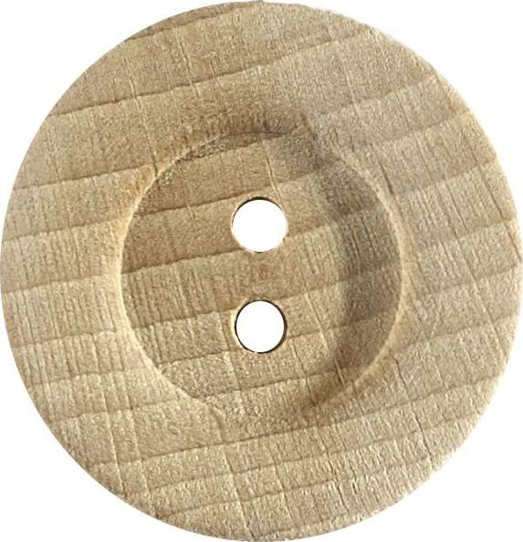 Großhandel Knopf 2-Loch Holz 27mm
