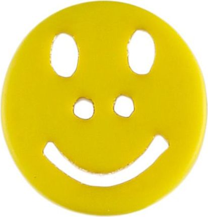 Wholesale Button 2-hole Smiley 18mm