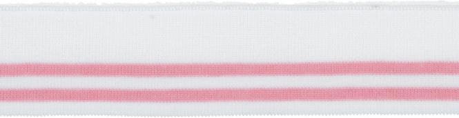 Großhandel Bündchen 45mm Weiß Rosa