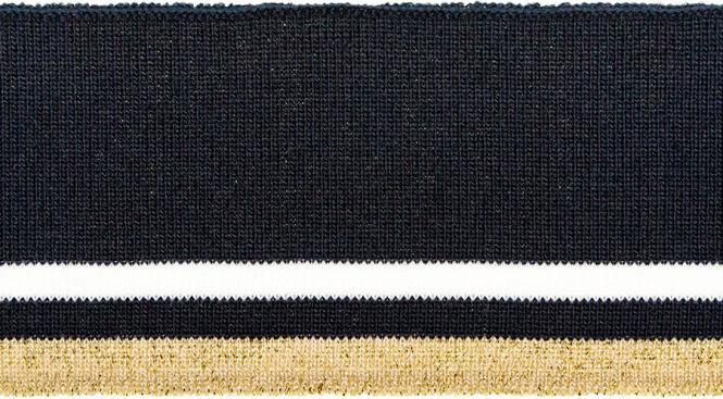 Großhandel Bündchen 60mm Lurex navy weiß