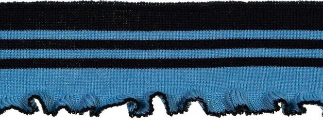 Großhandel Bündchen gerüscht 60mm blau