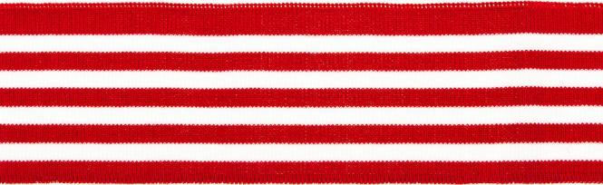 Großhandel Bündchen 70mm  rot/weiß