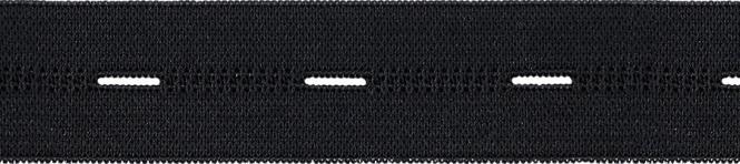 Großhandel Knopfl Elastic 25mm Meterware