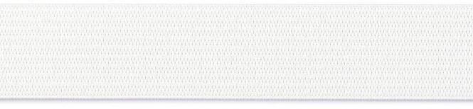 Großhandel Gummiband 25mm weiß 10m