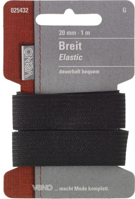 Großhandel Breit Elastic SB 20mm schwarz