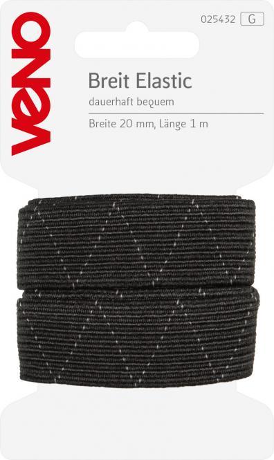 Wholesale Wide Elastic Self-Service 20mm Black