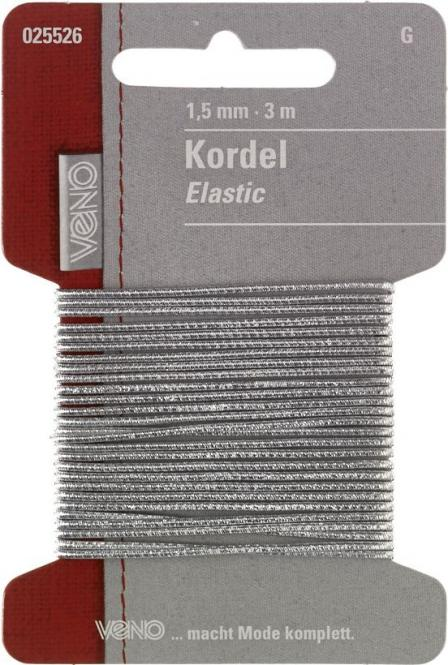 Großhandel Elastic Kordel SB 1,5mm silber