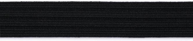 Wholesale Seamed Elastic Tape 25mm Black