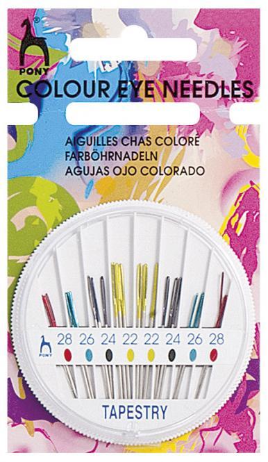 Großhandel Sticknadeln mit Spitze ST 22/28 farbig