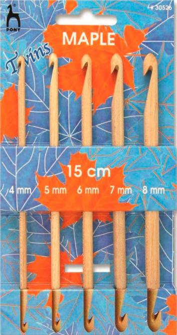 Wholesale Set Tunisian crochet hooks double-sided Maple 4 to 8
