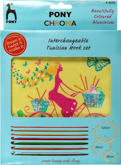 Wholesale colour interchangeable crochet hook set cycle