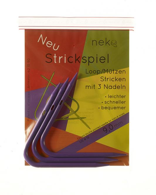Großhandel Neko Strickspiel 9,00mm mit 3 Nadeln