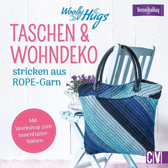Großhandel Woolly Hugs Taschen & Wohn-Deko stricken aus ROPE-Garn
