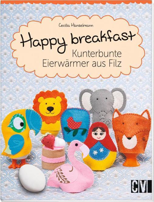 Großhandel Happy breakfast Kunterbunte Eierwärmer aus Filz