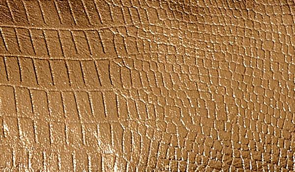Wholesale Fake Lather Cuttings Metallic Shine Copper 66x45cm