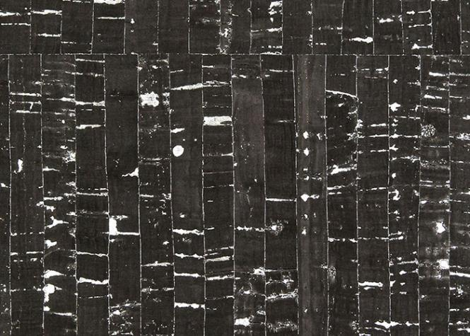 Wholesale Cork Farbric natural black with silver